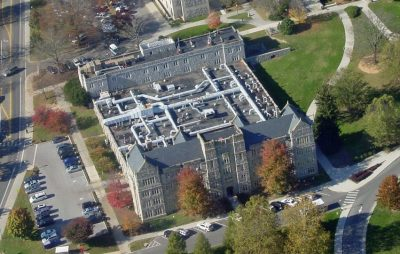 Aerial view of Davidson Hall