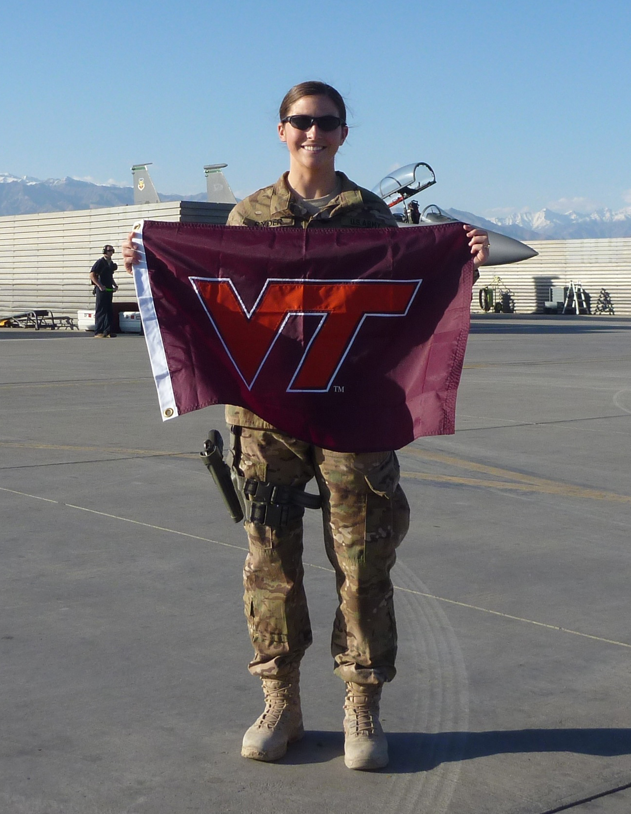 1st Lt. Patricia Urick Ryder, U.S. Army, Virginia Tech Corps of Cadets Class of 2010 shown in Afghanistan