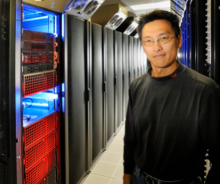 Wu Feng, associate professor of computer science and electrical and computer engineering, spearheaded the design and construction of HokieSpeed, Virginia Tech's latest and fastest entry into the supercomputing arena.