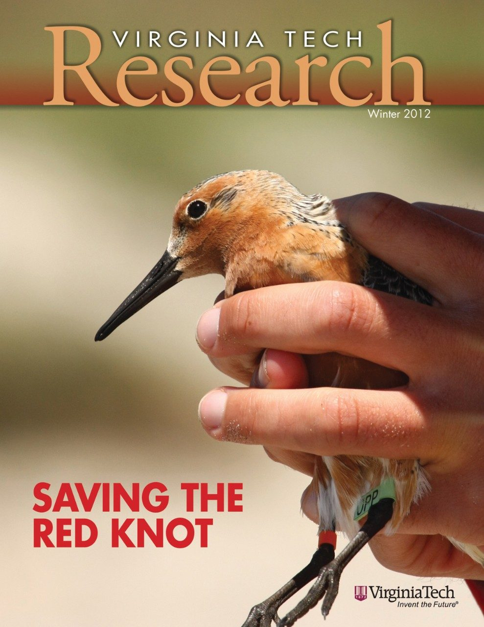 The cover photo for the winter 2012 Virginia Tech research magazine was taken by Brian Gerber of Amherst, Mass., a graduate student in wildlife science in the Virginia Tech College of Natural Resources and Environment.