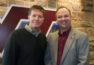 "Emmy Award winning journalist Stone Phillips recently visited the lab of Stefan Duma, head of the Virginia Tech -- Wake Forest School of Biomedical Engineering and Sciences, as part of Phillips' story, ""Hard Hits, Hard Numbers: The First Study of Head Impacts in Youth Football."""