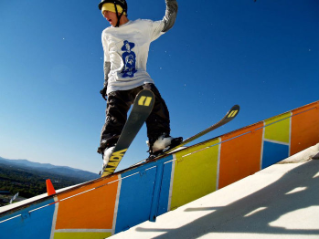 Freestyle skiing enthusiasts will perform at SnowJam 2012.