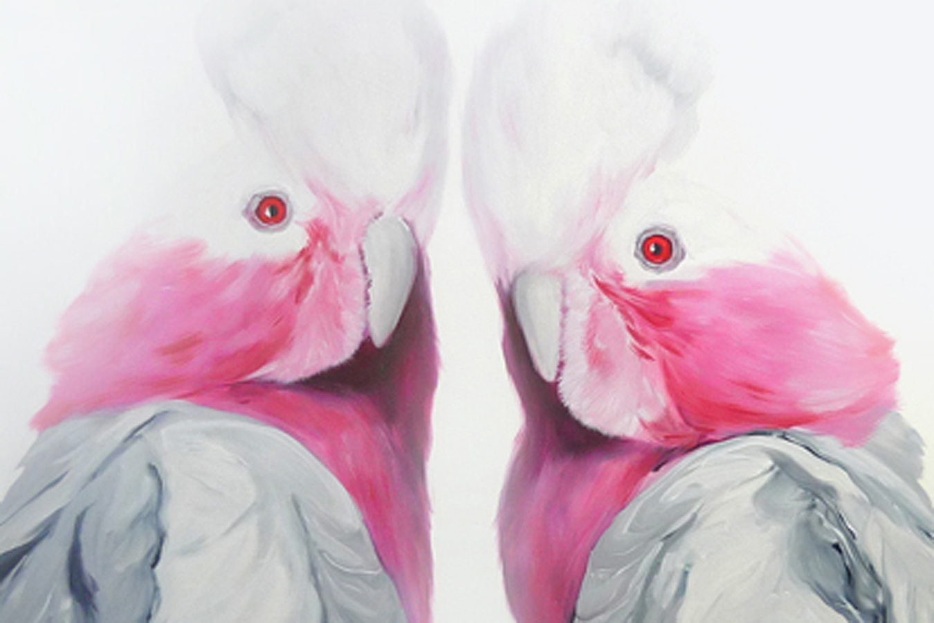 """Two Cockatoos"" by Leila Cartier"