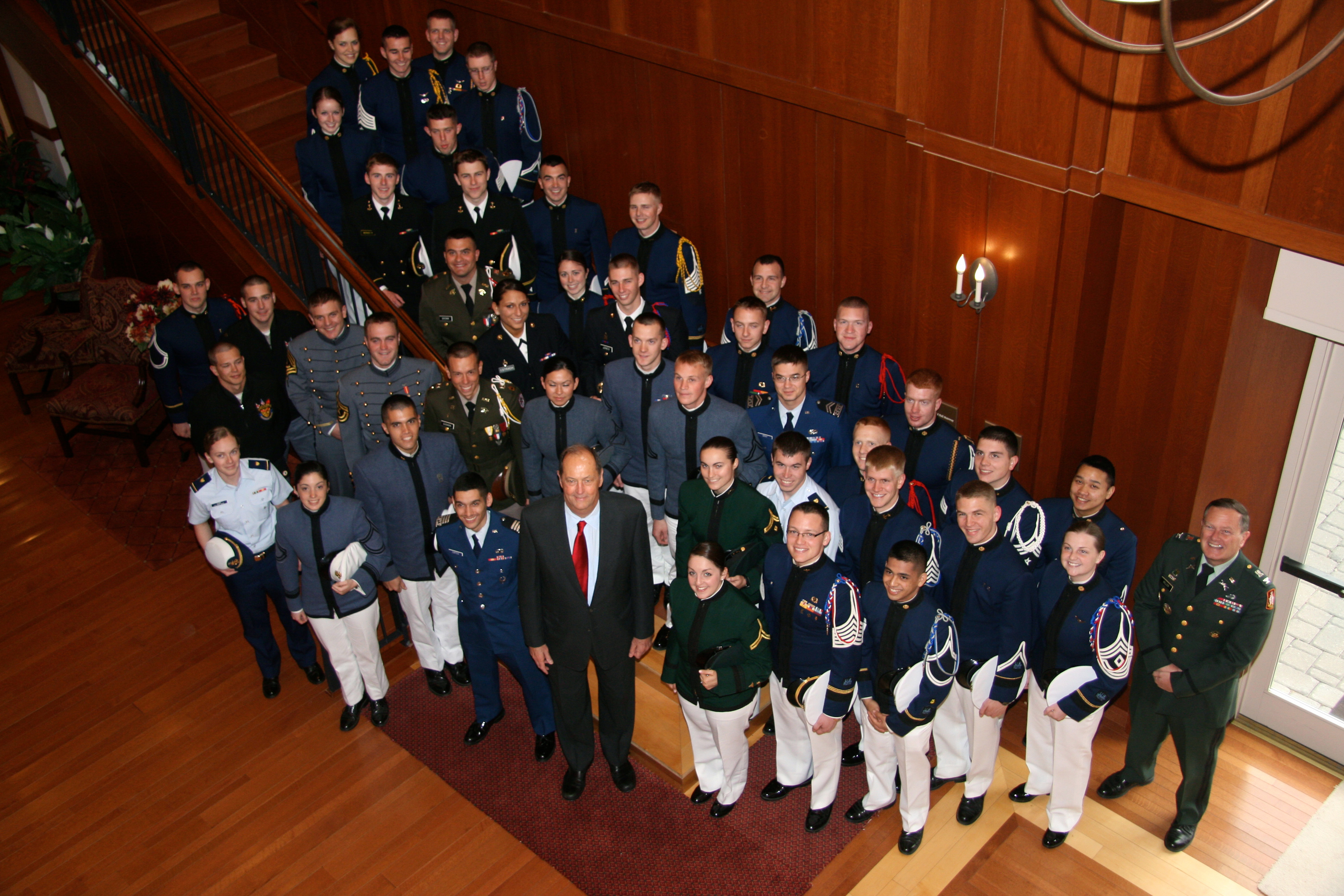 Attendees of the 2011 Virginia Tech Corps of Cadets Leadership Conference with keynote speaker, Former Sen. Bill Bradley at the Inn at Virginia Tech
