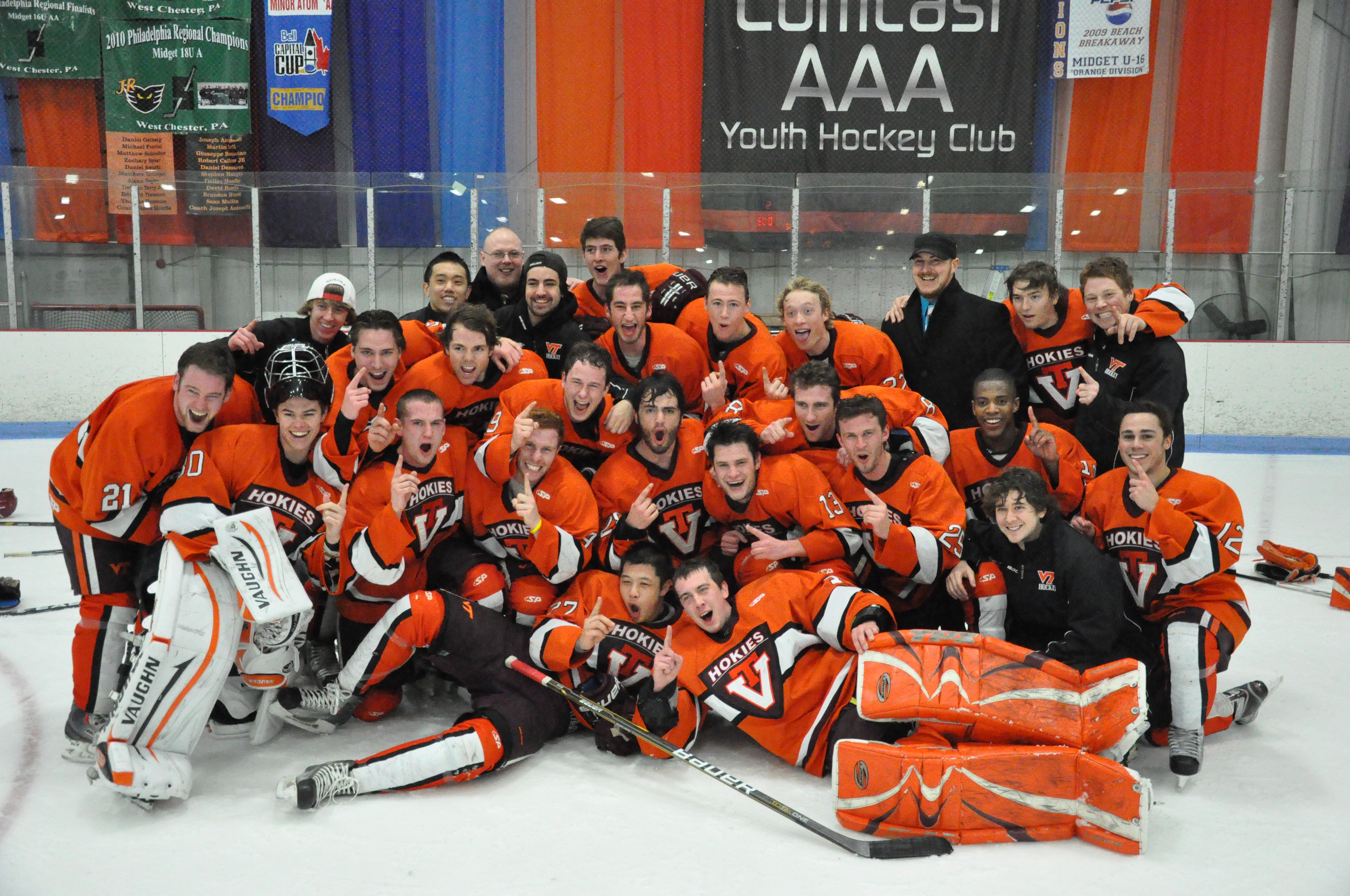 The 2011-12 Virginia Tech club ice hockey team will play in its first ACHA national tournament March 16-20.