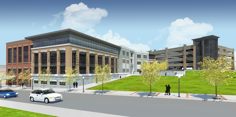 An architectural rendering of the Turner Street project currently under construction.