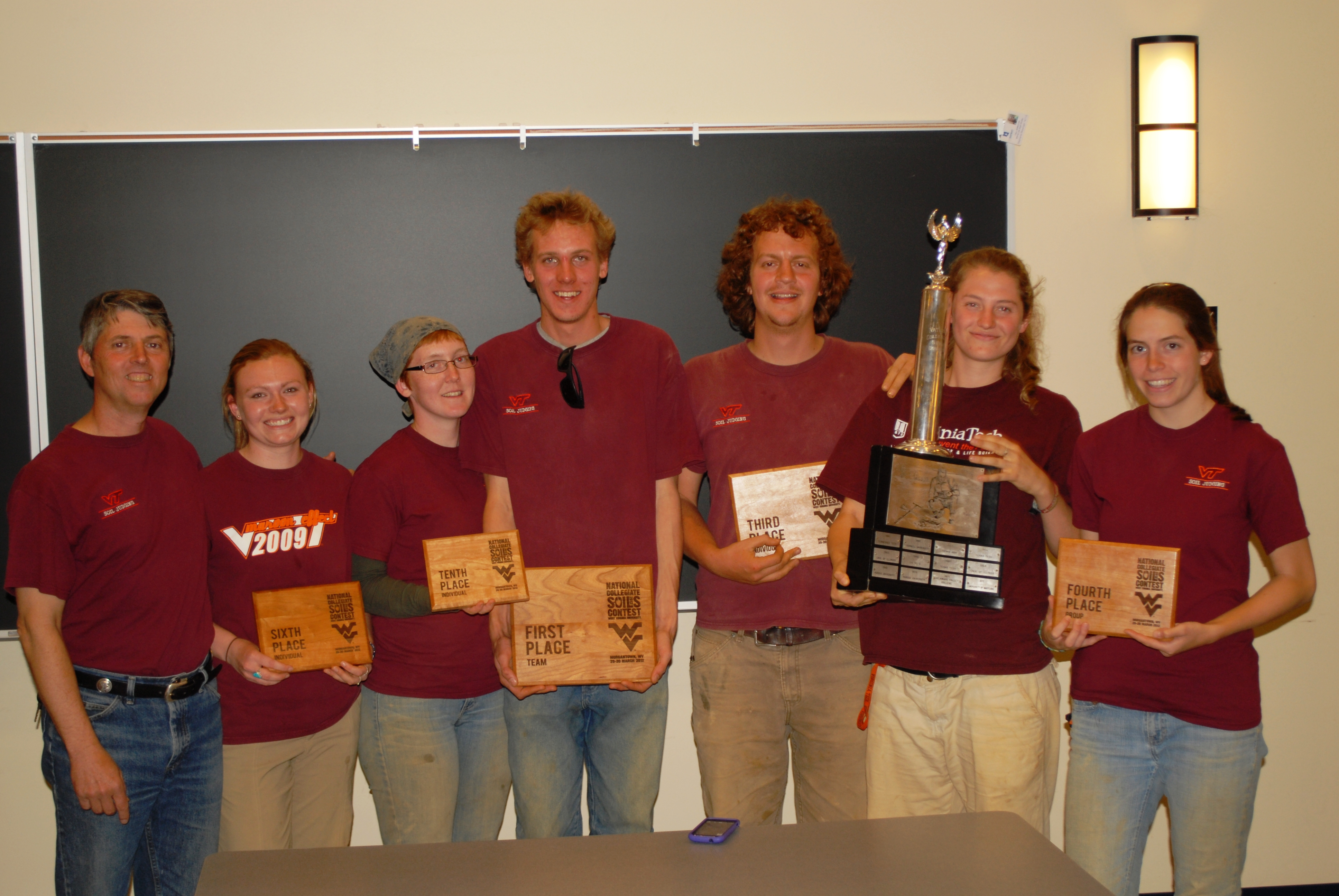 Students from the Department of Crop and Soil Environmental Sciences won the National Collegiate Soil Judging Championship