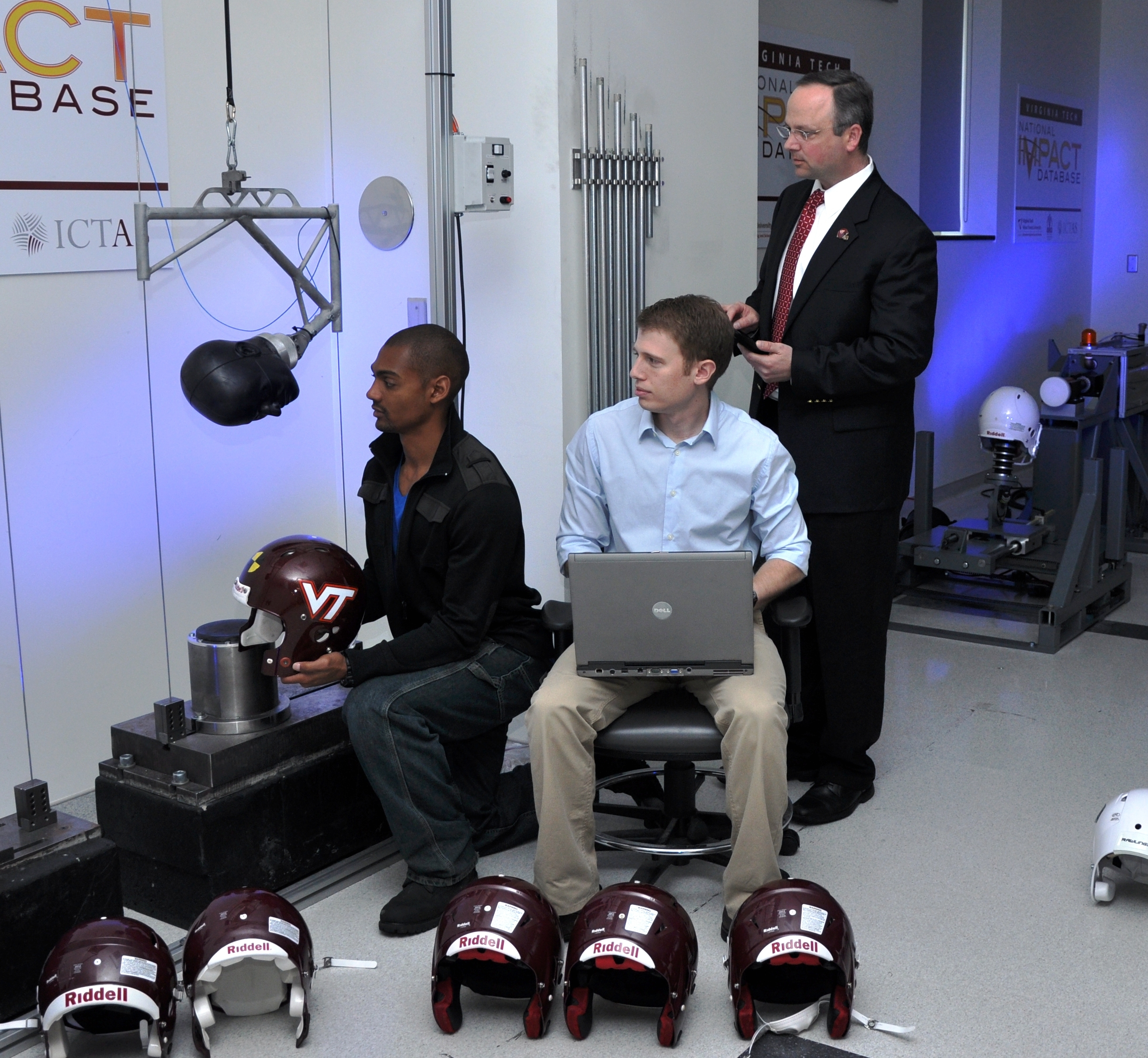 Daniel, Rowson, and Duma test helmets