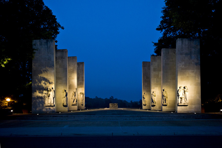 The Pylons are part of the War Memorial at Virginia Tech