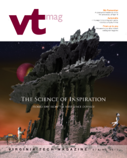 Virginia Tech Magazine, spring 2012. Photo illustration by Jim Stroup.