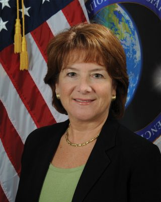 "National Geospatial-Intelligence Agency Director Letitia ""Tish"" Long, who received a degree in electrical engineering from Virginia Tech in 1982."