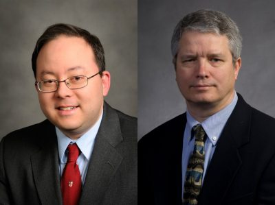 Headshots of Kenneth Wong at left and Philip Skorma