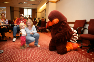 Researchers at The Child Study Center are conducting a study on specific phobias in children including fear of the dark, insects, and even costumed characters like the HokieBird.