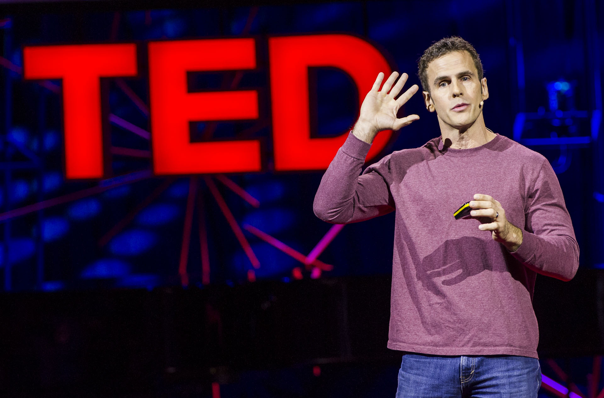 Read Montague speaks from the stage at TEDGlobal