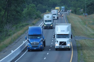 Trucks on Interstate-81