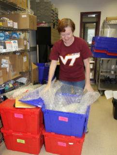 Biotech-in-a-Box Founder Kristi DeCourcy develops and distributes the kits, which have successfully reached over 100,000 students across almost every county in Virginia since the program's inception in 1994.