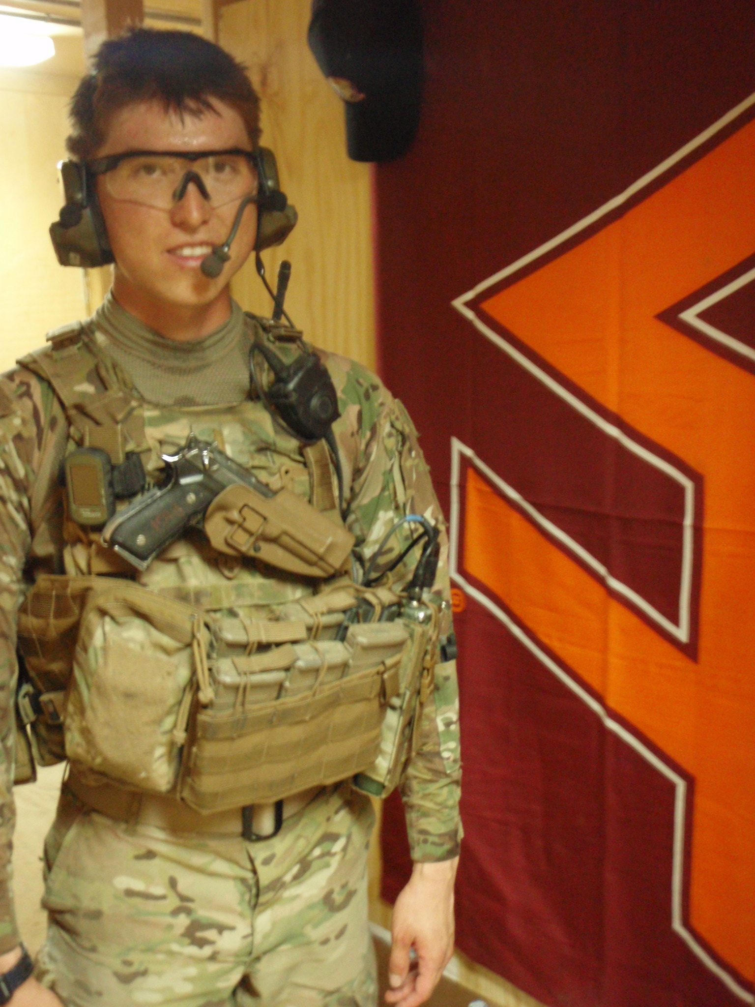 1st Lt. George Hogg, U.S. Army, Virginia Tech Corps of Cadets Class of 2010 while deployed in Afghanistan.