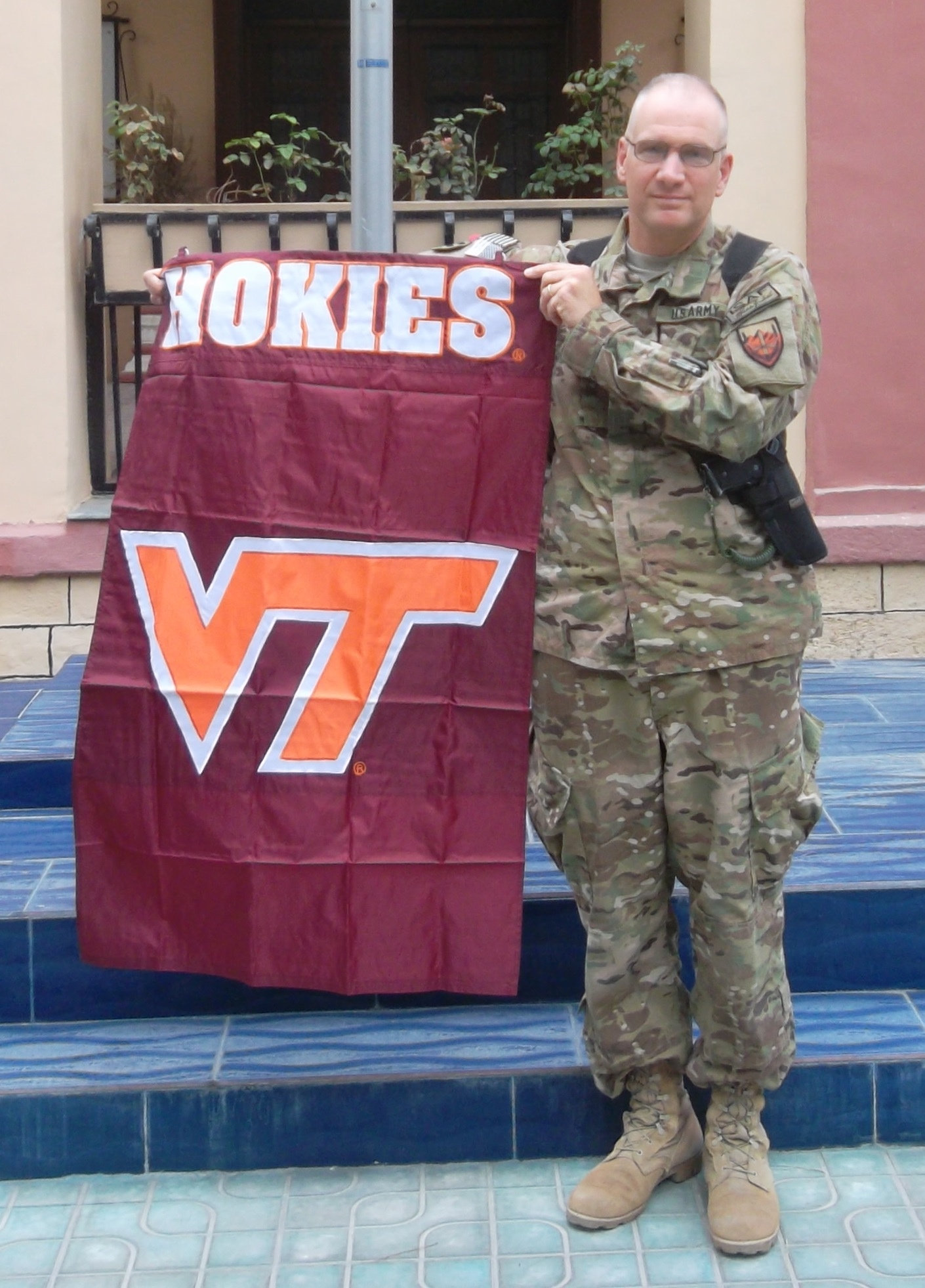 Col. Frank Huber, U.S. Army, Virginia Tech Corps of Cadets Class of 1985 on deployment.