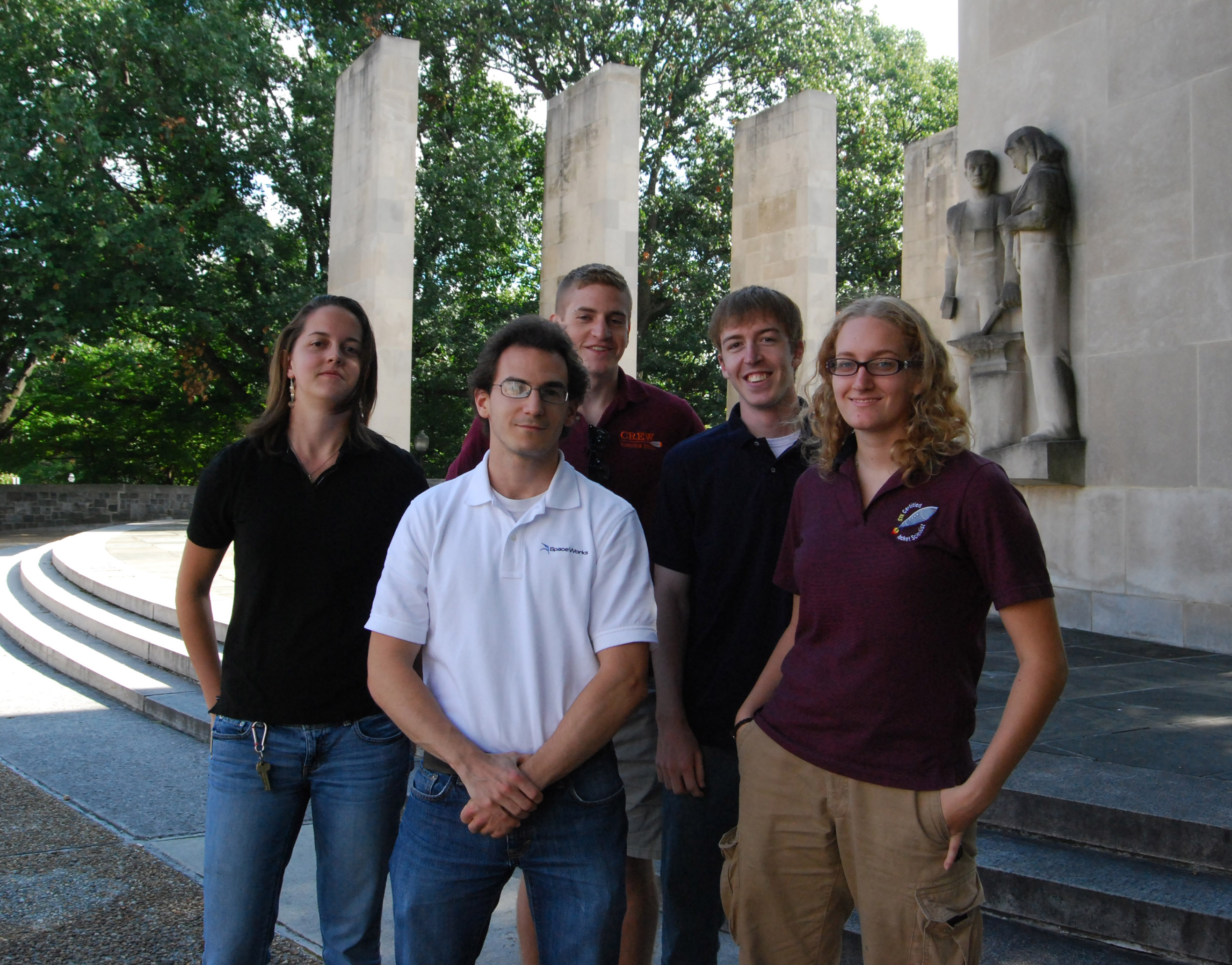 Winning aerospace engineering students
