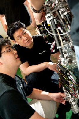 Dennis Hong in robotics lab