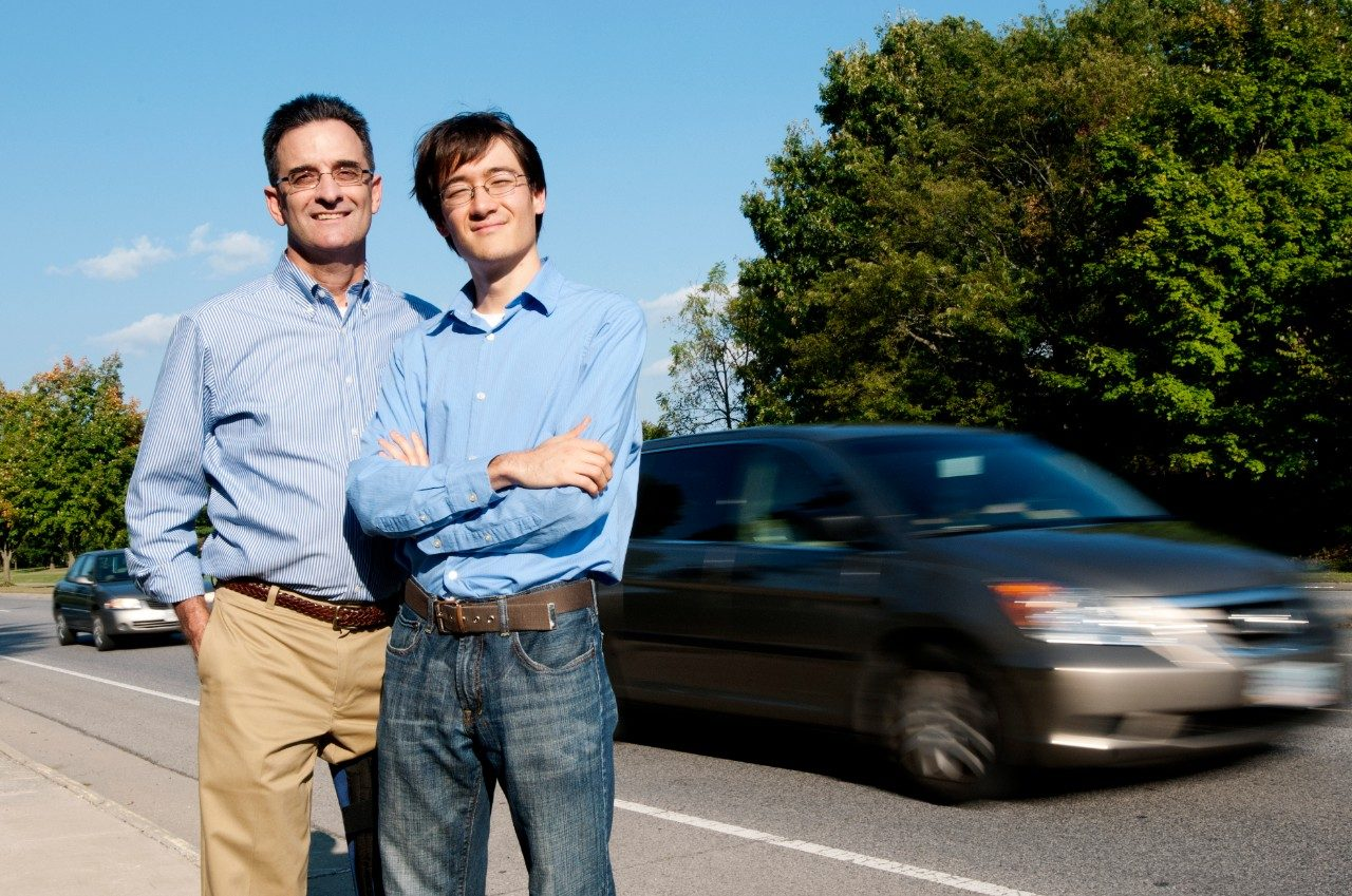 Clay Gabler, professor of biomedical engineering and researcher with the Virginia Tech Transportation Institute, and his Ph.D. student Kristofer Kusano, researched the potential of collision avoidance systems to save lives.