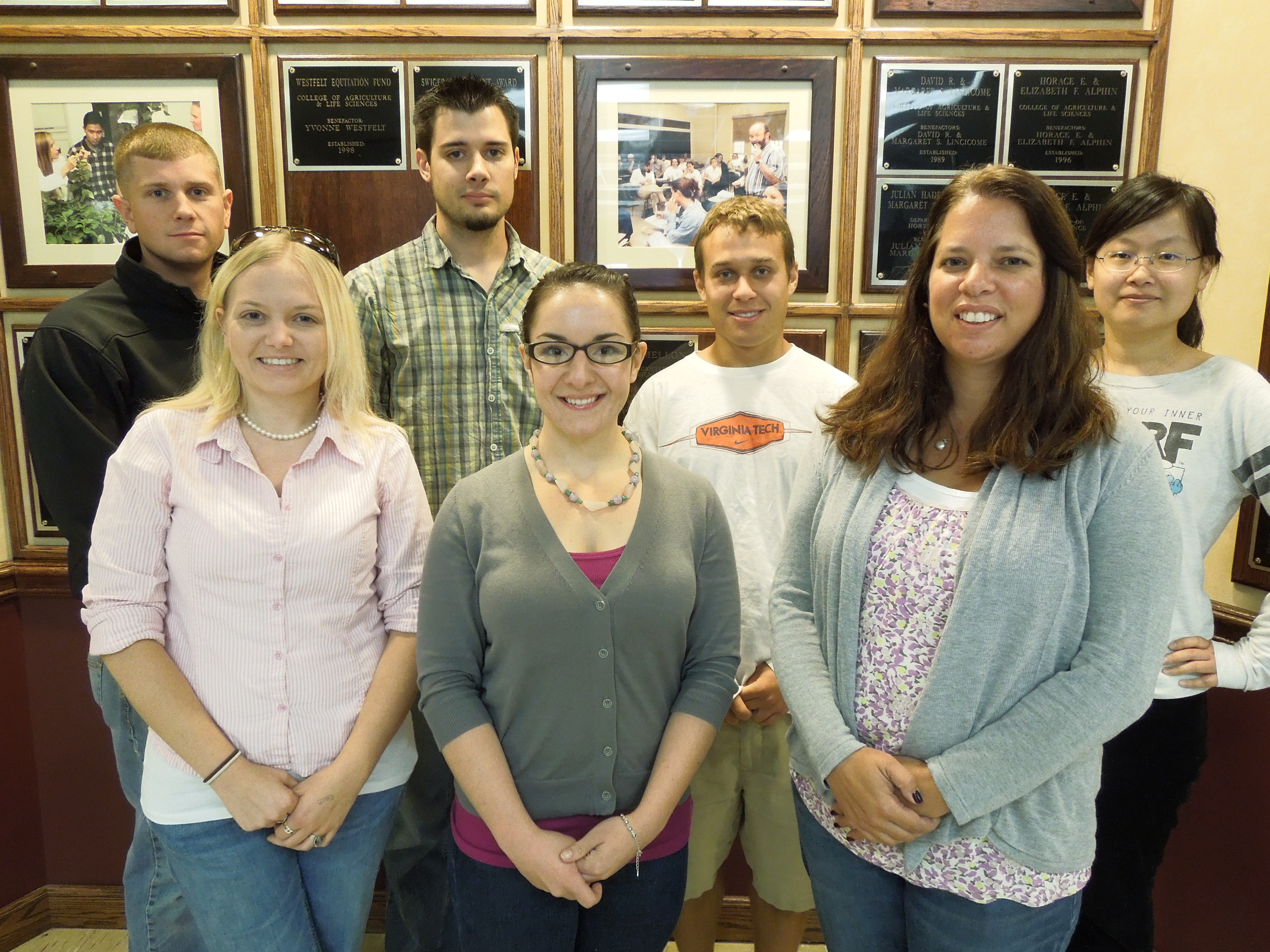 Seven graduate students are participating in the Graduate Teaching Scholarship program
