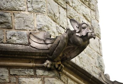 gargoyle on Virginia Tech campus building