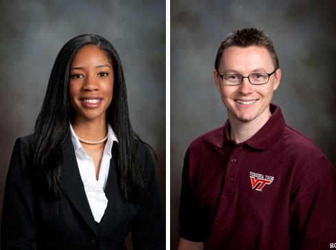 Pictured, from left: Devita McCullough and Andrew (A.J.) Wickersham