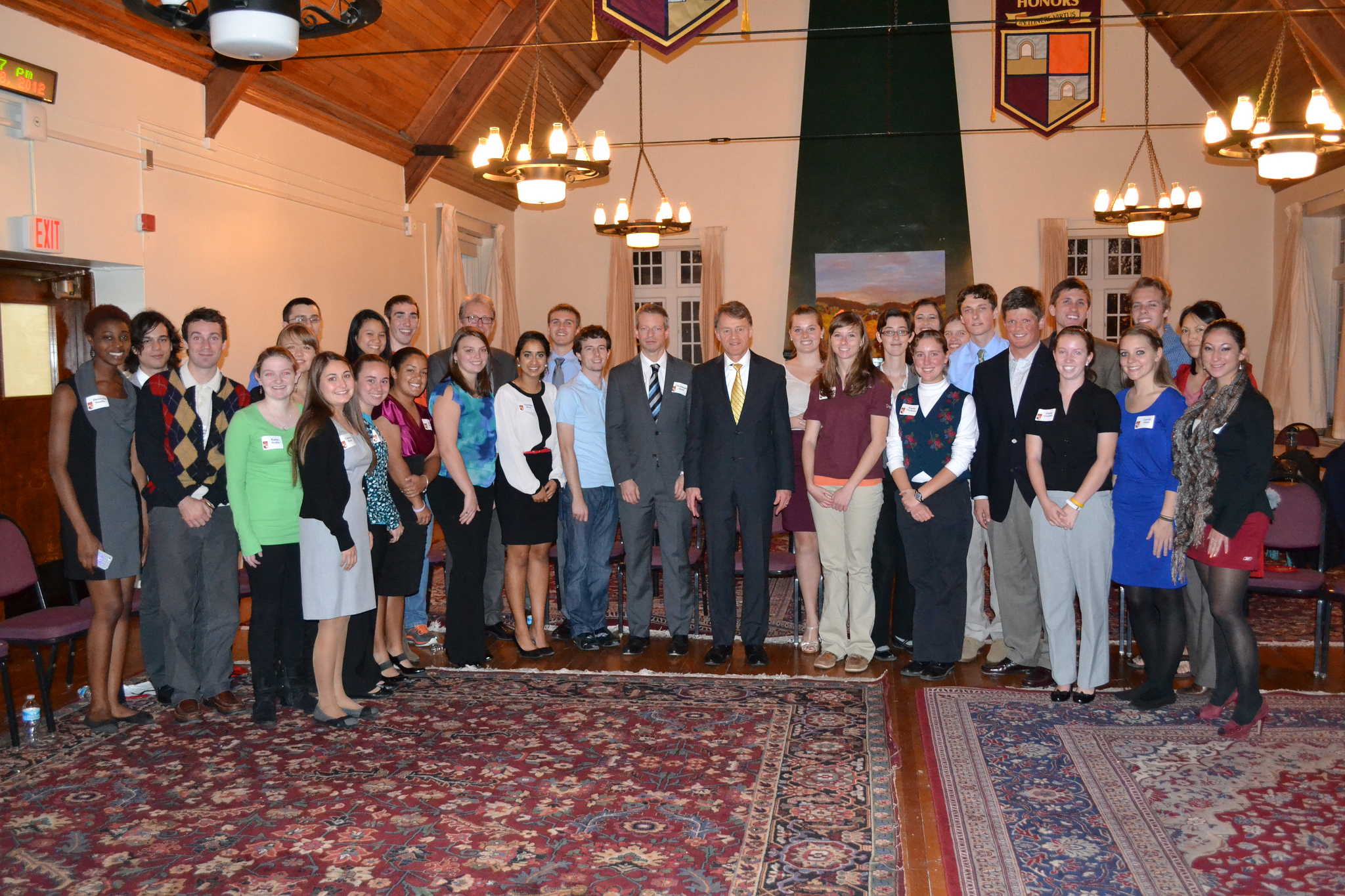 Presidential Global Scholars program participants meet with Swiss representatives