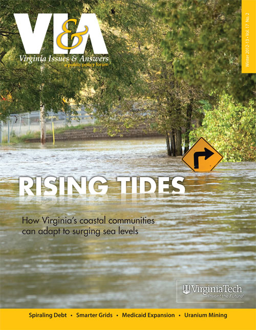 The cover of the winter 2012-13 edition of Virginia Issues & Answers