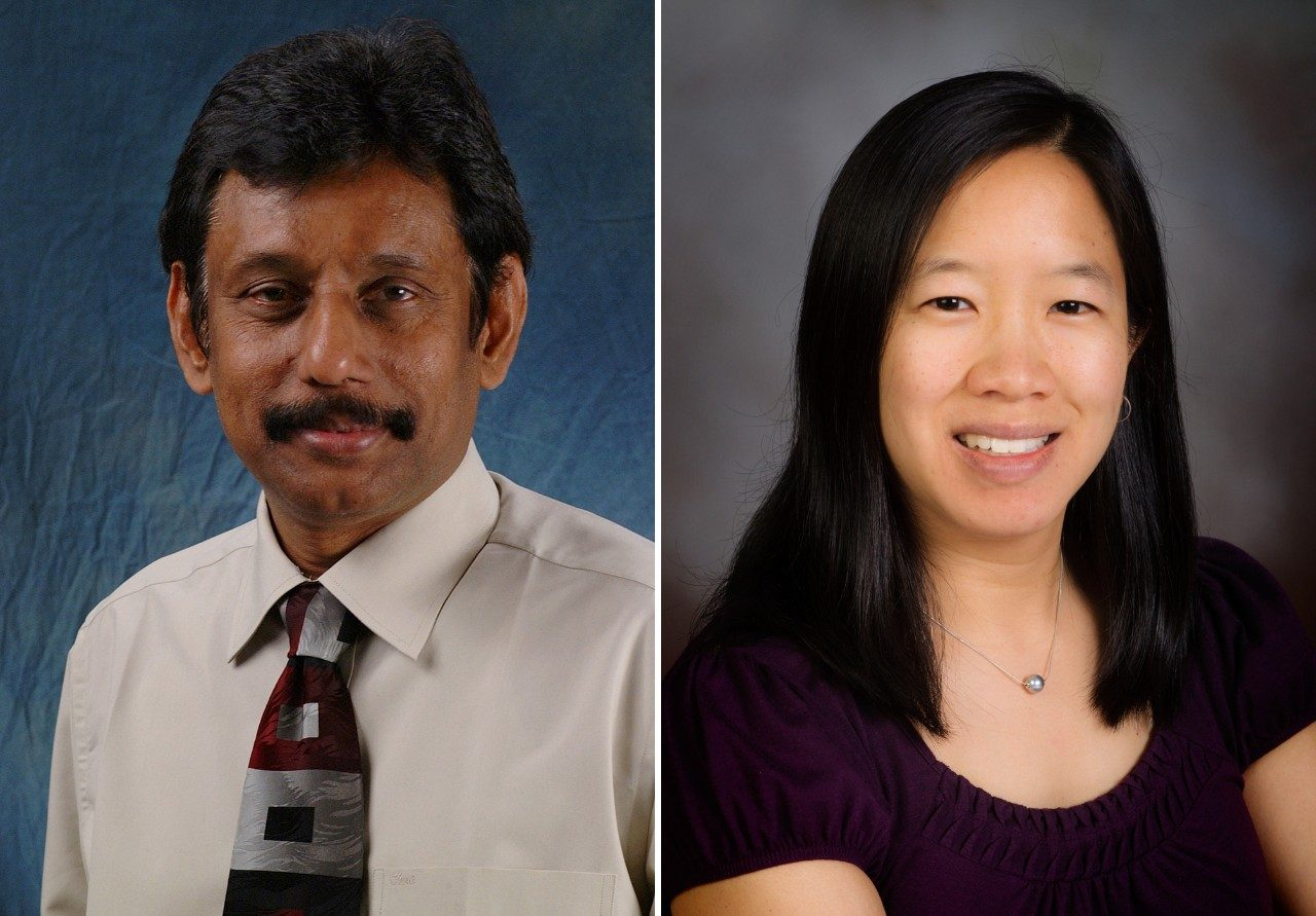 Elankumaran Subbiah (left) and Linsey Marr