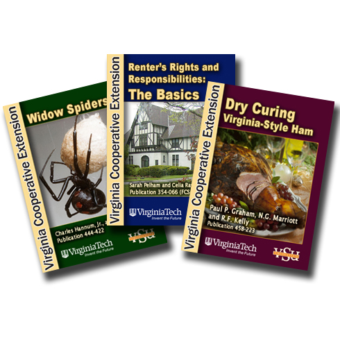 Virginia Cooperative Extension has released new, free e-books on  widow spiders, curing hams and renter's rights.