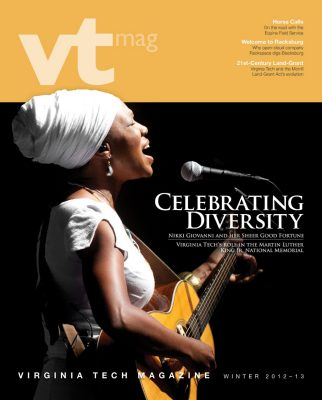 Winter 2012-13 VT Magazine cover