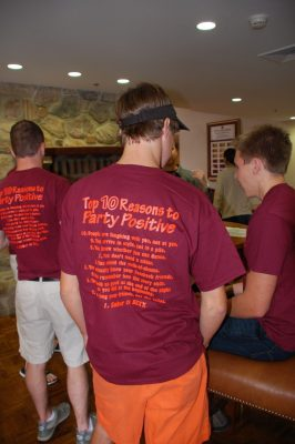 Students in Party Positive T-shirts
