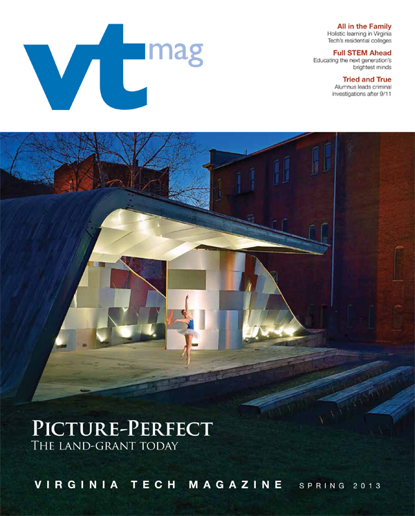 Virginia Tech Magazine spring 2013 cover