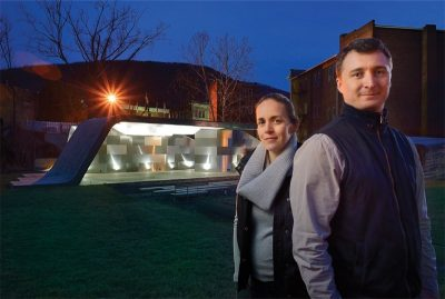 Marie and Keith Zawistowski, faculty members in Virginia Tech's College of Architecture and Urban Studies