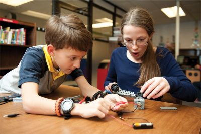 K-12 students participating in Studio STEM project
