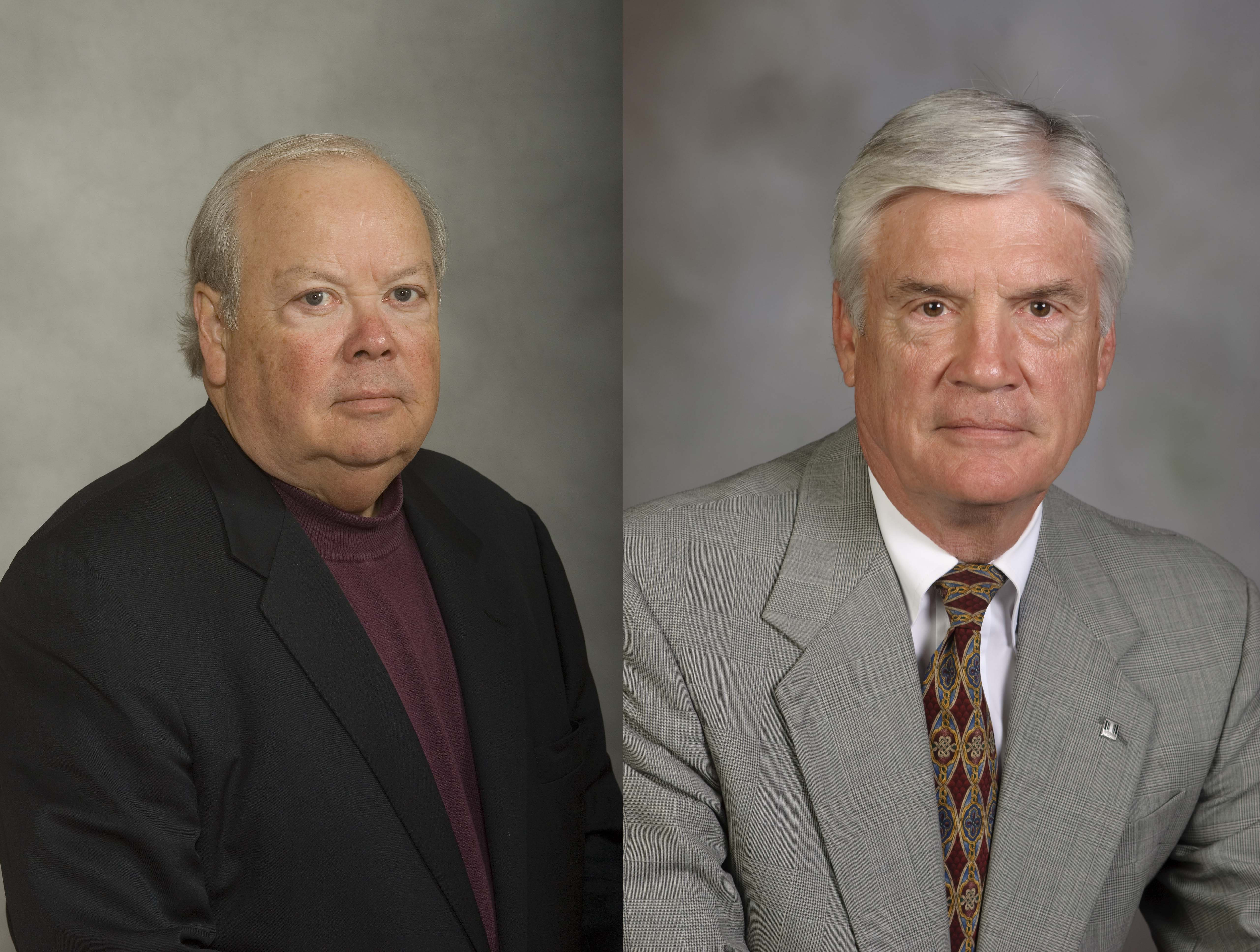 Photograph of Virginia Tech alumni Ben J. Davenport Jr. and David E. Lowe