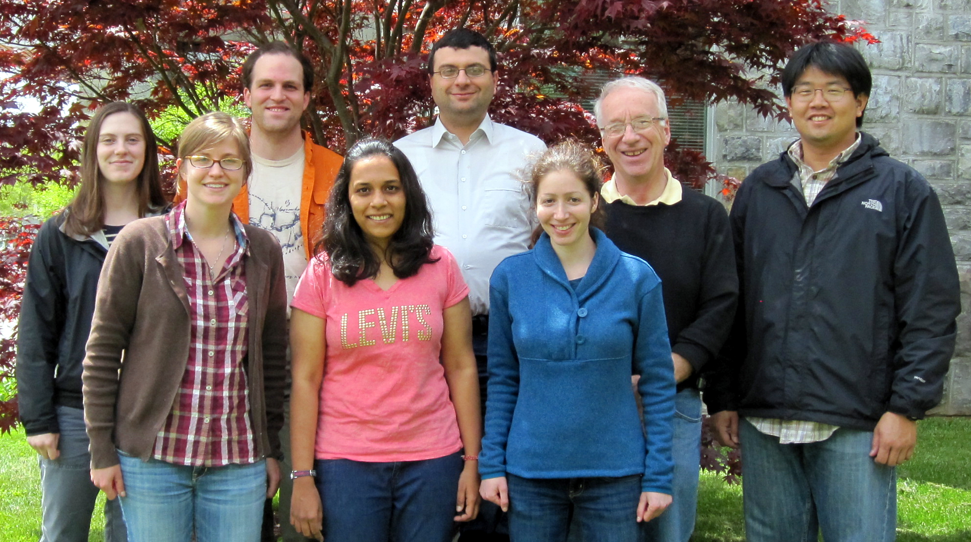 The seven team members and their faculty advisor.