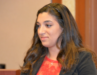 Lydia Jamil, of Lebanon was awarded a Phi Beta Delta scholarship to study in Switzerland and Rome.