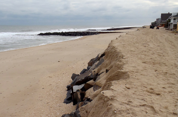 Forgotten seawall came to borough's rescue.
