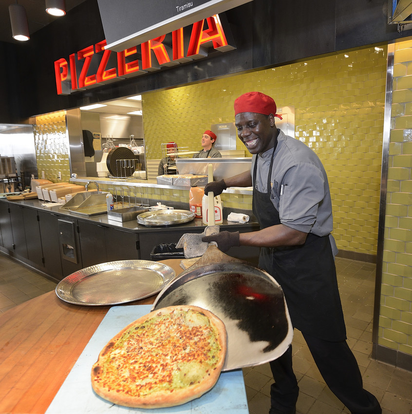 Atomic Pizzeria is one of eight popular restaurants in Turner Place at Lavery Hall.