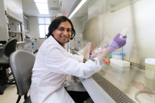 "Jasmin Bavarva, a geneticist at the Virginia Bioinformatics Institute, uses a process called ""next generation sequencing"" to explore gene activity."