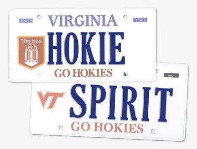 Virginia Tech license plages