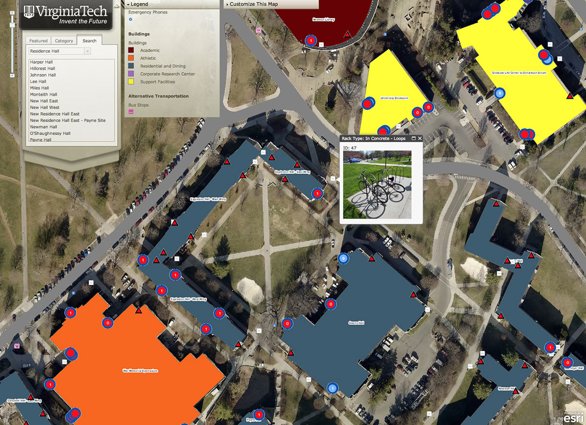 Interactive Virginia Tech Map Offers Customization Rich Data Layers