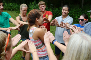 First-year students spent a day of orientation at the Alta Mons campground in Shawsville, Va.
