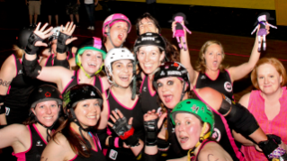 Roller Derby Club members take a different approach to fitness. Photo by Suzanne Locascio.