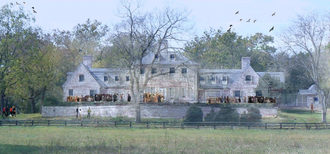 A rendering from the winning presentation of the renovated historic home at the Casey Tree Farm.