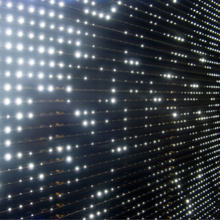 "Leo Villareal, ""Diamond Matrix, 2008."" Features 3,600 light emitting diodes, microcontroller, custom software, and anodized aluminum. Dimensions are 62.5 x 62.5 x 5 inches. Collection of Hadley Martin Fisher, Miami, Florida. Photo credit: ConnerSmith, copyright Leo Villareal"