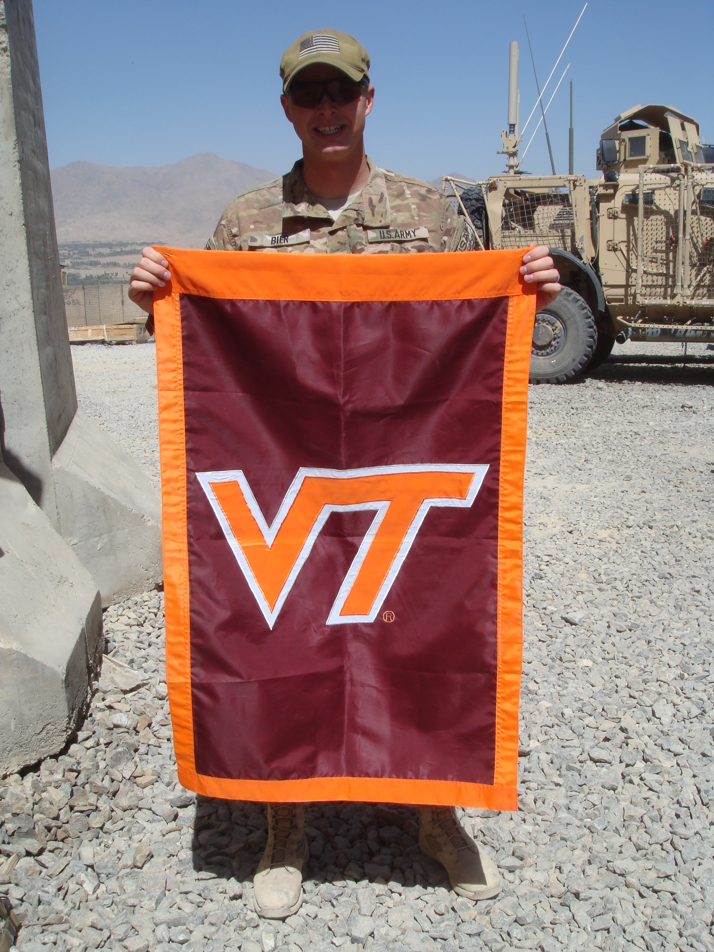 1st Lt. Nathan Bier, U.S. Army, Virginia Tech Corps of Cadets Class of 2011 in Afghanistan